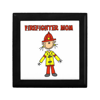Firefighter Mom T-shirts and Gifts Trinket Boxes