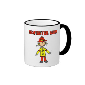 Firefighter Mom Tshirts and Gifts Ringer Coffee Mug