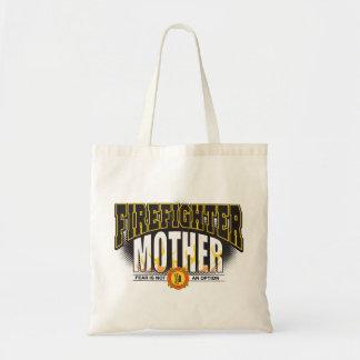 Firefighter Mother Budget Tote Bag