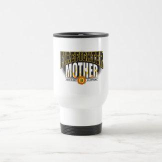 Firefighter Mother 15 Oz Stainless Steel Travel Mug