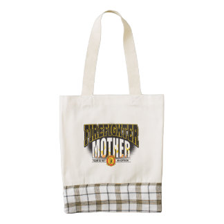 Firefighter Mother Zazzle HEART Tote Bag