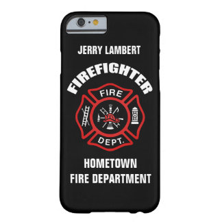 Firefighter Name Template Barely There iPhone 6 Case