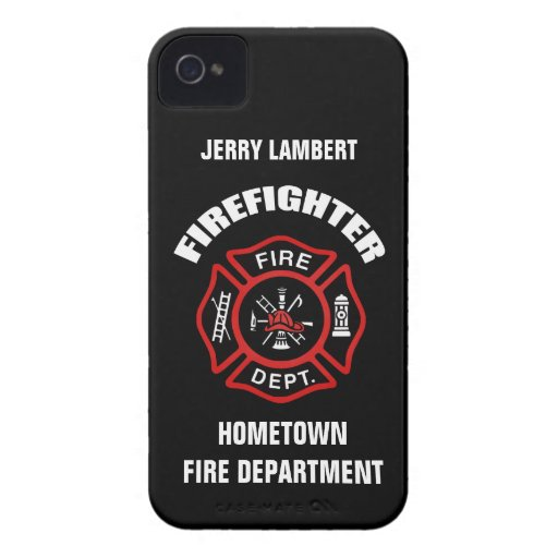 Firefighter Name Template iPhone 4 Case-Mate Case