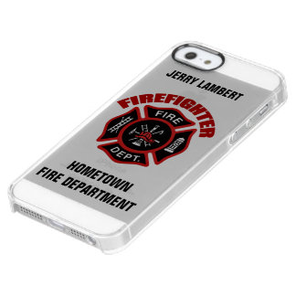 Firefighter Name Template Clear iPhone SE/5/5s Case
