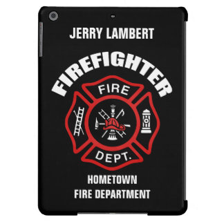Firefighter Name Template iPad Air Cover