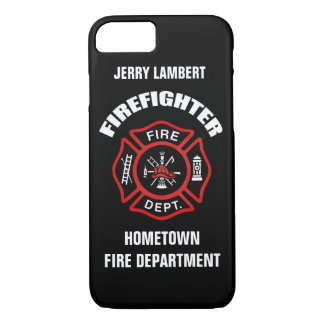 Firefighter Name Template iPhone 7 Case