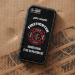 Firefighter Name Template Tough Xtreme iPhone 6 Case