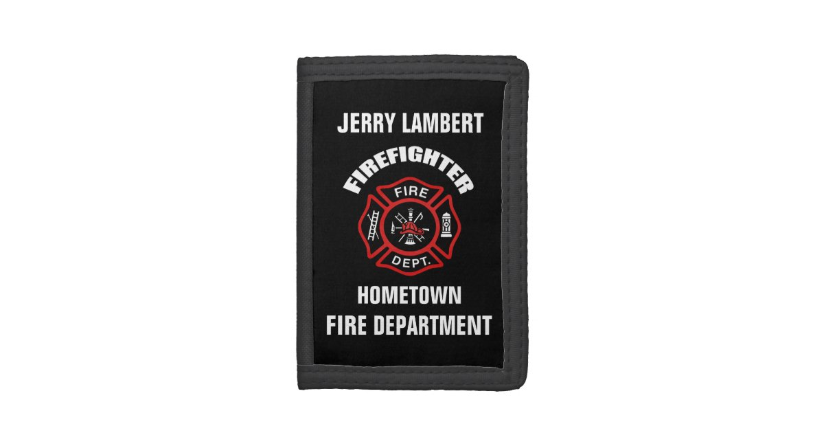 firefighter name template trifold wallet zazzle com
