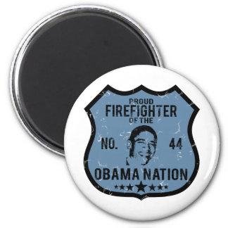 Firefighter Obama Nation 2 Inch Round Magnet