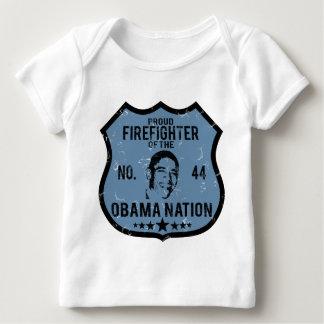 Firefighter Obama Nation Baby T-Shirt