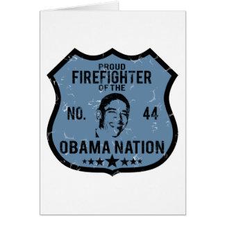 Firefighter Obama Nation Card