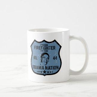 Firefighter Obama Nation Coffee Mug