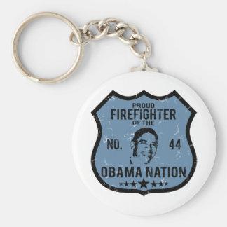 Firefighter Obama Nation Keychain