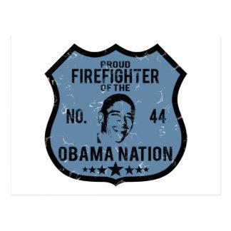 Firefighter Obama Nation Postcard