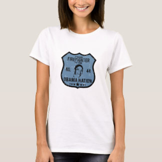 Firefighter Obama Nation T-Shirt