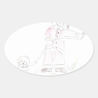 Firefighter Oval Sticker