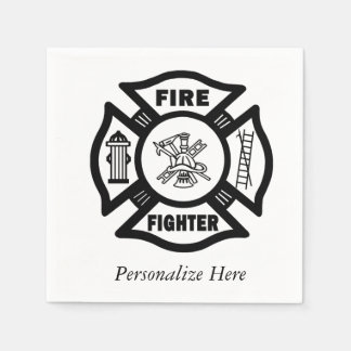 Firefighter Paper Napkin