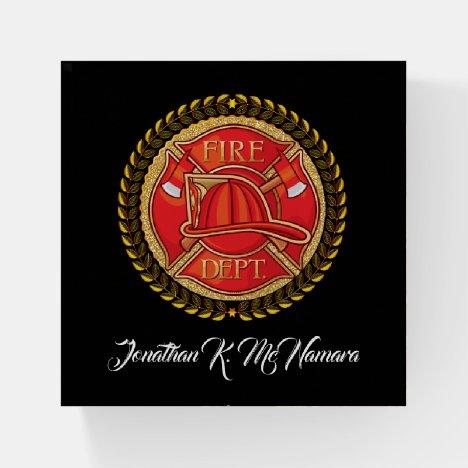 Firefighter Paperweight