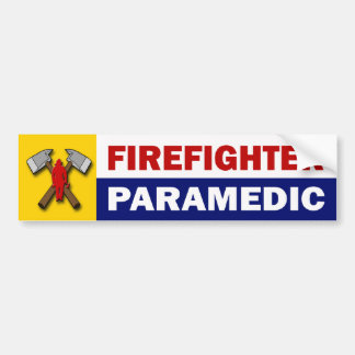 Firefighter Paramedic Bumper Sticker