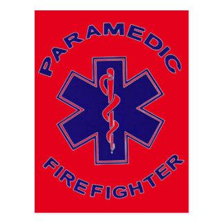 Firefighter Paramedic Postcard