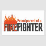 Firefighter Parent stickers, customizable Rectangular Sticker