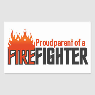 Firefighter Parent stickers, customizable Rectangular Sticker