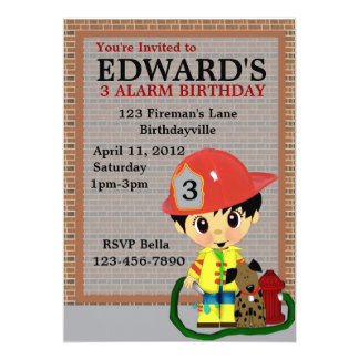 Firefighter Party Card
