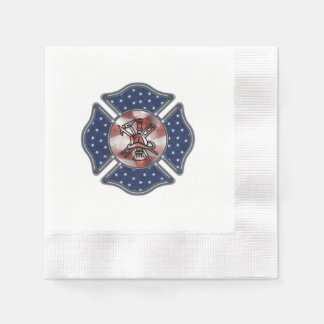 Firefighter Patriotic Dept Napkin