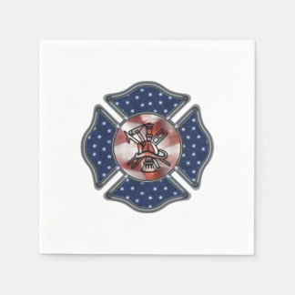 Firefighter Patriotic Dept Paper Napkin