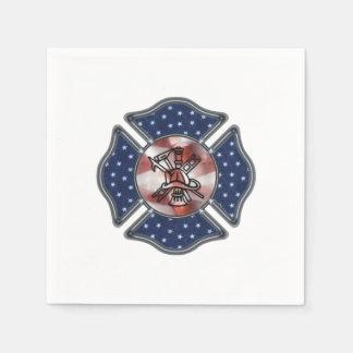 Firefighter Patriotic Dept Paper Napkin