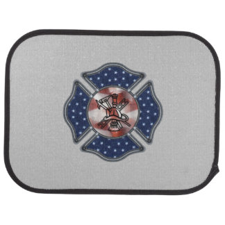 Firefighter Patriotic Floor Mat