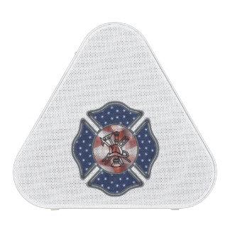 Firefighter Patriotic Logo Bluetooth Speaker