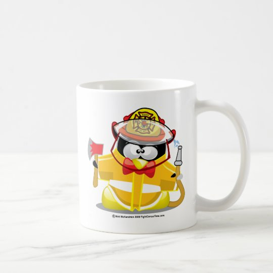 Firefighter Penguin Coffee Mug