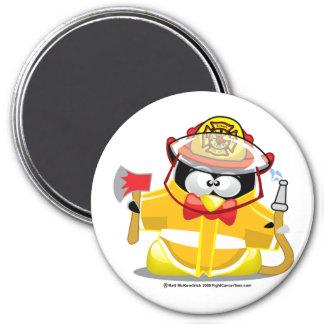 Firefighter Penguin Magnet
