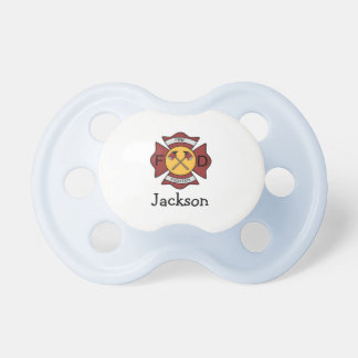 Firefighter Personalized Name BooginHead Pacifier