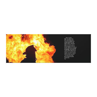 firefighter picture stretched canvas prints
