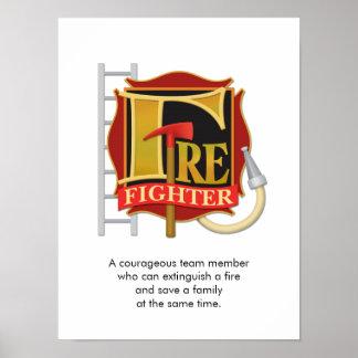 """""""Firefighter"""" Poster"""