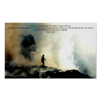 Firefighter Poster - Isaiah 43 2