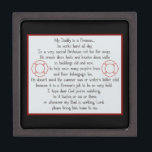 """Firefighter prayer keepsake box<br><div class=""""desc"""">Father</div>"""
