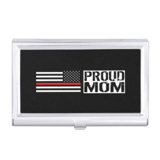 Firefighter - Proud Mom Business Card Case