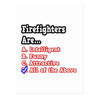 Firefighter Quiz Joke Postcard