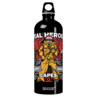Firefighter Real Heroes Aluminum Water Bottle