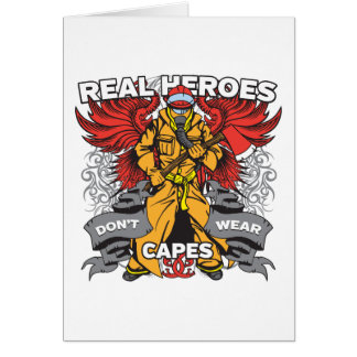 Firefighter Real Heroes Greeting Card
