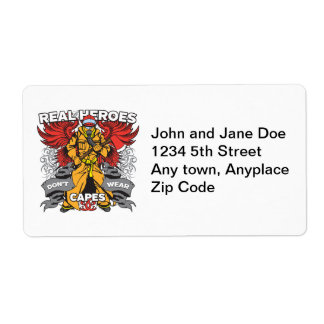 Firefighter Real Heroes Shipping Label