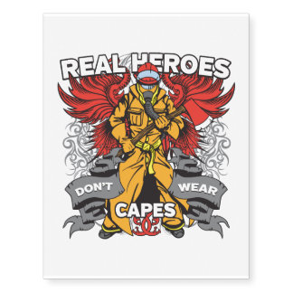 Firefighter Real Heroes Temporary Tattoos