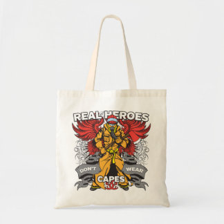 Firefighter Real Heroes Tote Bag