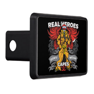 Firefighter Real Heroes Trailer Hitch Cover