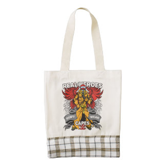 Firefighter Real Heroes Zazzle HEART Tote Bag