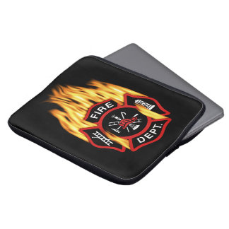 Firefighter Red Badge Fire Computer Sleeve
