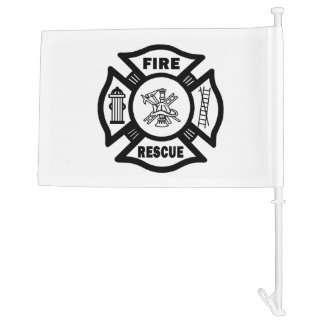 Firefighter Rescue Car Flag
